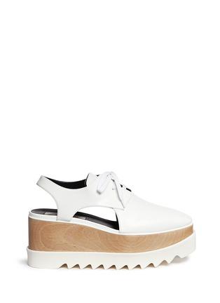 首图 - 点击放大 - STELLA MCCARTNEY - 镂空坡跟系带鞋