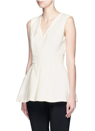 Front View - Click To Enlarge - Alexander McQueen - Inverted pleat wool-silk scuba top