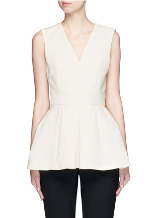 Main View - Click To Enlarge - Alexander McQueen - Inverted pleat wool-silk scuba top