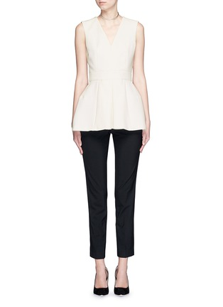 Figure View - Click To Enlarge - Alexander McQueen - Inverted pleat wool-silk scuba top