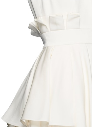 Detail View - Click To Enlarge - Alexander McQueen - Pleat waist V-neck flare dress