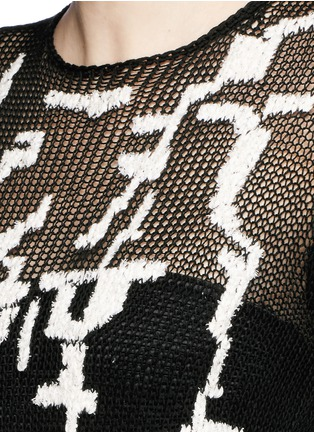 Detail View - Click To Enlarge - Alexander McQueen - Punk camouflage intarsia sweater