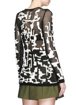 Punk camouflage intarsia sweater