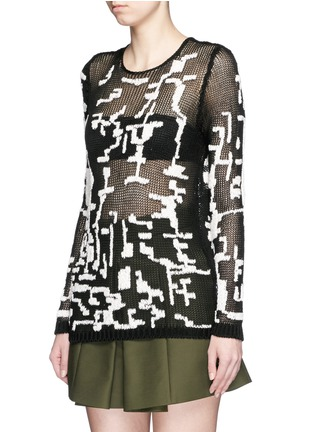 Front View - Click To Enlarge - Alexander McQueen - Punk camouflage intarsia sweater
