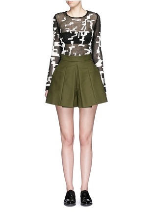 Figure View - Click To Enlarge - Alexander McQueen - Punk camouflage intarsia sweater