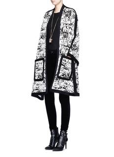ALEXANDER MCQUEENCamouflage intarsia knit cape jacket
