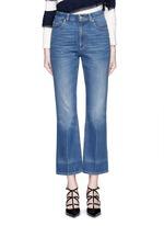 Vintage wash cropped flare jeans