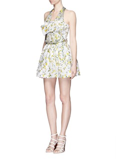 ALEXANDER MCQUEENSweetpea floral jacquard satin pouf dress