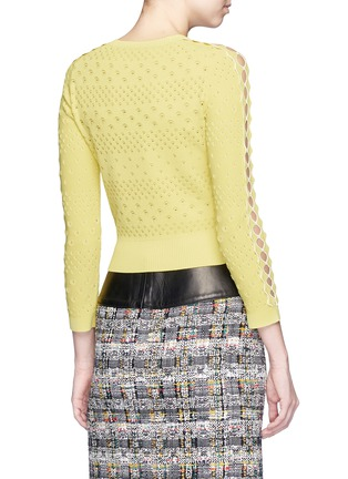 Back View - Click To Enlarge - Alexander McQueen - Dot texture scalloped seam sweater