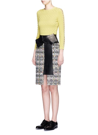 Figure View - Click To Enlarge - Alexander McQueen - Dot texture scalloped seam sweater