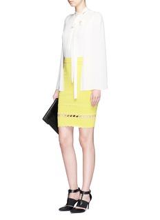 ALEXANDER MCQUEENScalloped seam knit pencil skirt