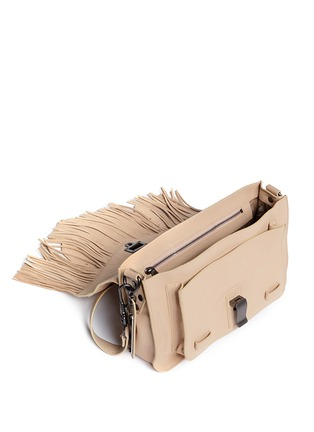 Detail View - Click To Enlarge - Proenza Schouler - 'PS1 Fringe' tiny leather satchel