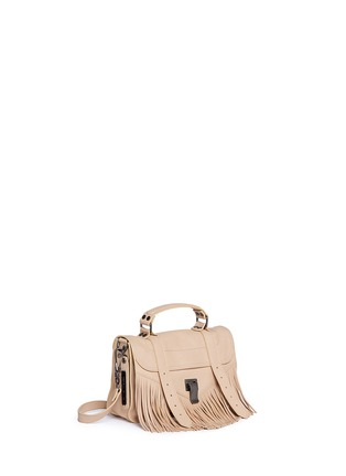 Front View - Click To Enlarge - Proenza Schouler - 'PS1 Fringe' tiny leather satchel