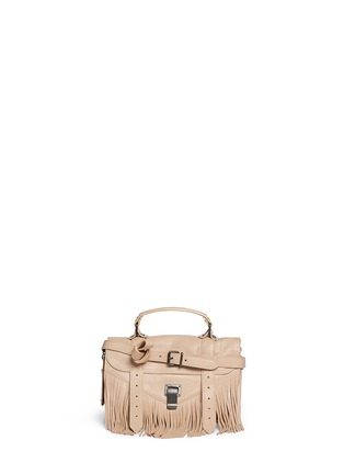 Main View - Click To Enlarge - Proenza Schouler - 'PS1 Fringe' tiny leather satchel