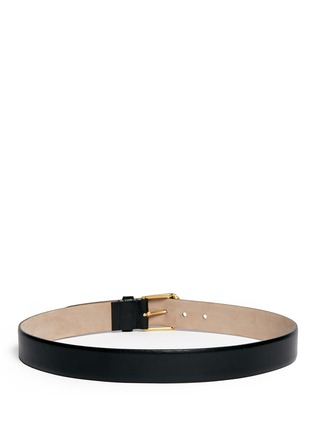 Back View - Click To Enlarge - Alexander McQueen - Double skull buckle leather belt