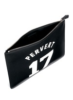 'Pervert 17' leather zip pouch