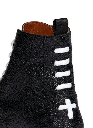 Givenchy-Full brogue leather Derby boots