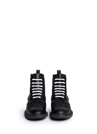 模特儿示范图 - 点击放大 - GIVENCHY - 系带真皮牛津靴