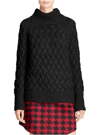 Front View - Click To Enlarge - Coach - x BLITZ mohair funnel neck sweater
