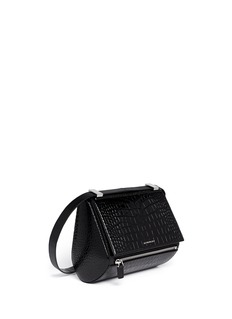 GIVENCHYPandora Box medium croc-embossed leather bag