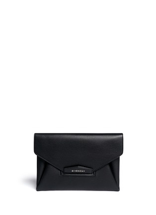 Main View - Click To Enlarge - Givenchy - 'Antigona' leather envelope clutch