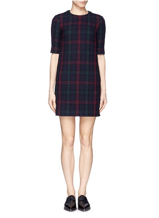 Main View - Click To Enlarge - Elizabeth and James - 'Clairemont' diamond quilted plaid dress