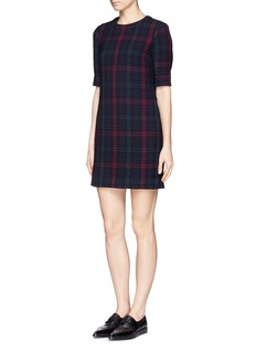 ELIZABETH AND JAMES 'Clairemont' diamond quilted plaid dress