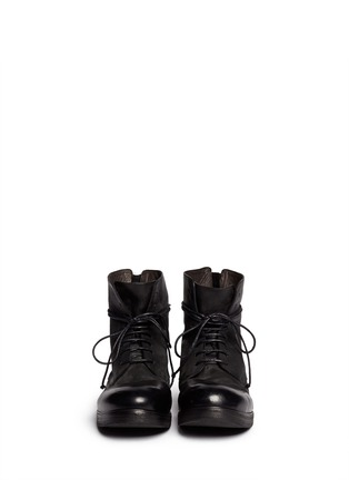 Figure View - Click To Enlarge - Marsèll - 'Bolla Zucca Zeppa' lace-up boots