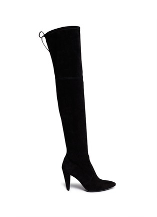 Main View - Click To Enlarge - Stuart Weitzman - 'Highstreet' suede thigh high boots
