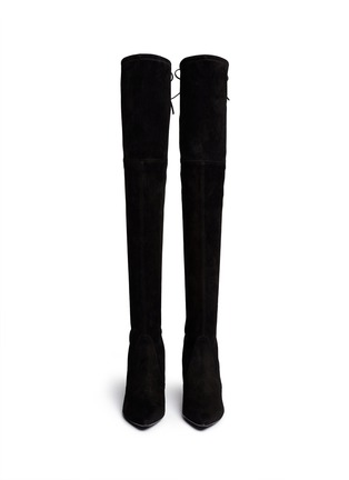 Figure View - Click To Enlarge - Stuart Weitzman - 'Highstreet' suede thigh high boots
