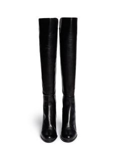STUART WEITZMAN'Semi' elastic back leather boots