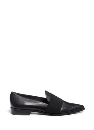 Main View - Click To Enlarge - Stuart Weitzman - 'The Band' elastic band leather slip-ons