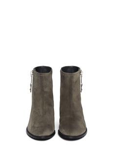 STUART WEITZMAN'Winzipper' suede ankle boots