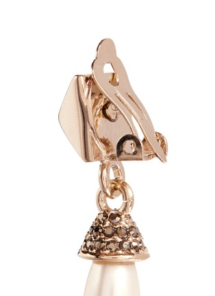Detail View - Click To Enlarge - Valentino - Rockstud pearl drop earrings