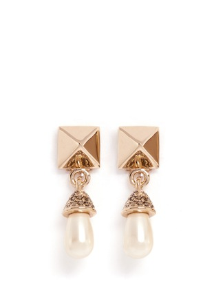 Main View - Click To Enlarge - Valentino - Rockstud pearl drop earrings