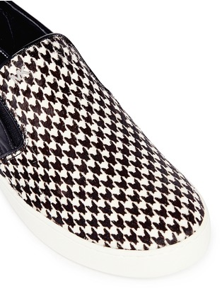 Detail View - Click To Enlarge - Michael Kors - 'Keaton' houndstooth calf hair slip-ons