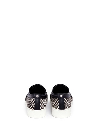 Back View - Click To Enlarge - Michael Kors - 'Keaton' houndstooth calf hair slip-ons