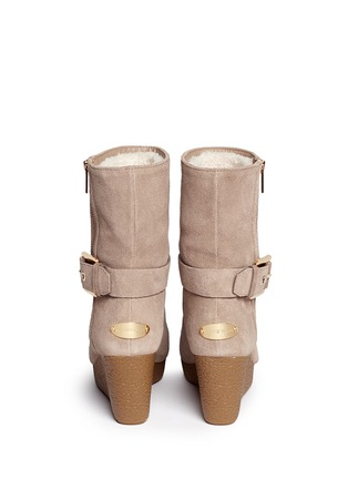 Back View - Click To Enlarge - Michael Kors - 'Lizzie' wedge boots