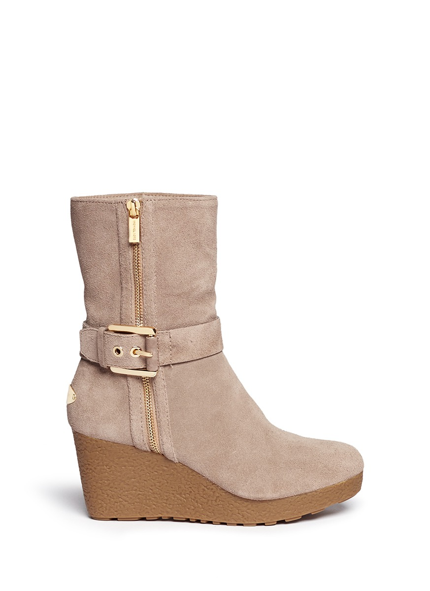 MICHAEL MICHAEL KORS - 'Lizzie' wedge boots - on SALE ...