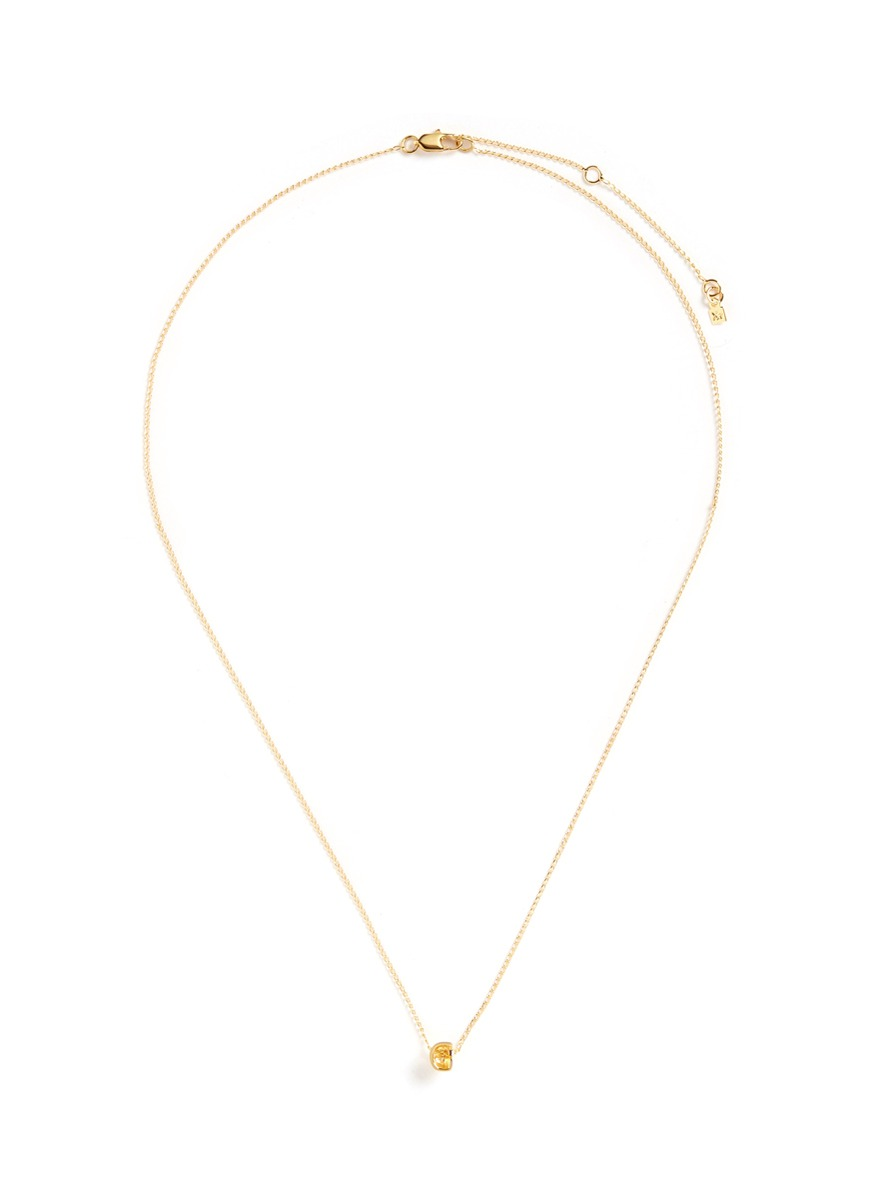 Initiale G diamond 16k gold plated necklace by Xr