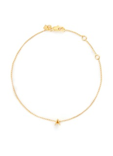 Xr'Initiale A' diamond 16k gold plated bracelet