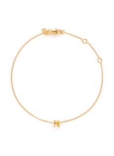 Xr'Initiale N' diamond 16k gold plated bracelet