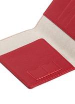 Fine grain leather passport holder