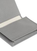 Pebble grain leather multi card holder