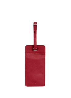 Bynd Artisan Double window leather luggage tag