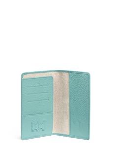 Bynd ArtisanPebble grain leather passport holder