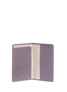 Bynd Artisan Pebble grain leather passport holder