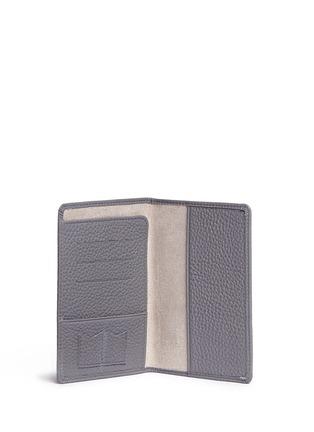Bynd Artisan-Pebble grain leather passport holder