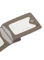 Double window leather luggage tag