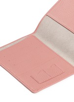 Pebble grain leather passport holder